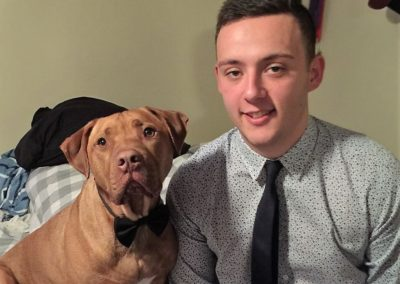 Winner of the Advocate® People's Rescue Story Jason Vallas and Diesel.  Photo: Jason Vallas