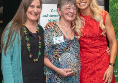 Volunteer of the Year award: Jill Potter of Forever Friends Animal Rescue (finalist), Sue Quartermain of RSPCA Victoria (winner) and Dr Alex Hynes (Bondi Vet and Judge). Jo Lyons Photography