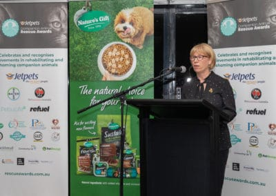 Cathy Beer, Founder hosting the Jetpets Rescue Awards Ceremony 2019 at 8th National G2Z Summit & Workshops. Jo Lyons Photography