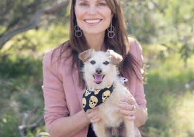 Ambassador Lara Shannon and her dog, Darcy. Photo supplied by Lara Shannon