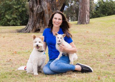 Rescue Awards Ambassador Lara Shannon with Vindi and Darcy